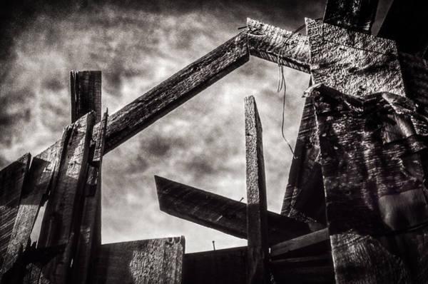 Utility Pole Photograph - Quartz Mountain 18 by YoPedro