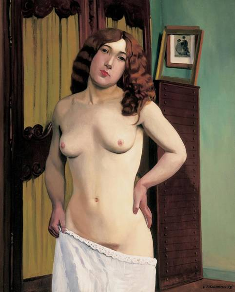 Dressing Painting - Cabinet Chest by Felix Edouard Vallotton