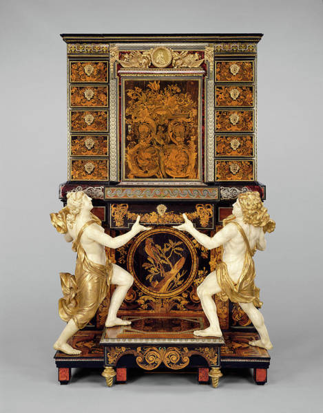 Drawers Painting - Cabinet On Stand Attributed To André-charles Boulle by Litz Collection