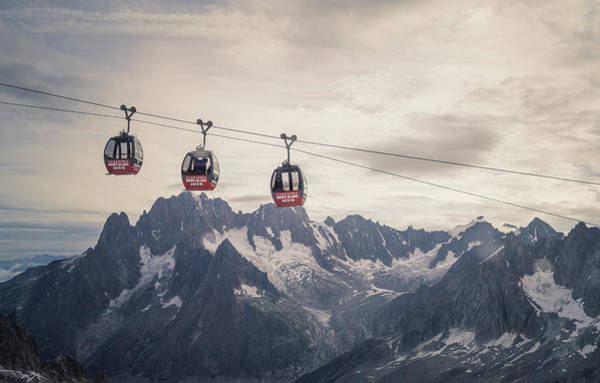 Chamonix Wall Art - Photograph - Cable Car In The Alps by Buena Vista Images