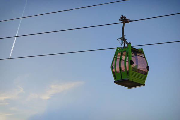 Photograph - Cable Car In Zaragoza by Pablo Lopez