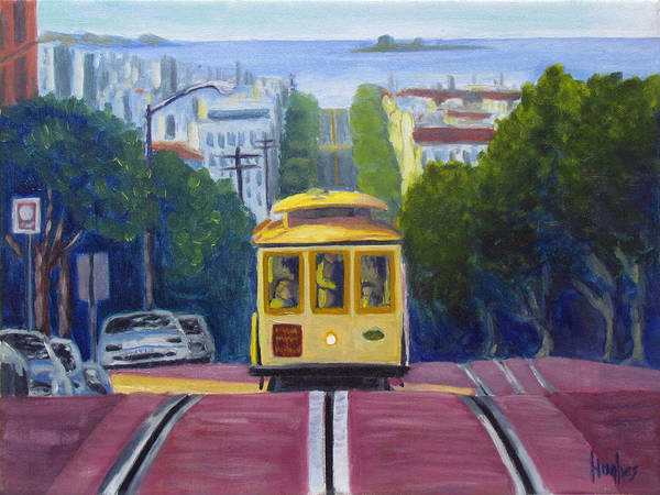 Painting - Cable Car by Kevin Hughes