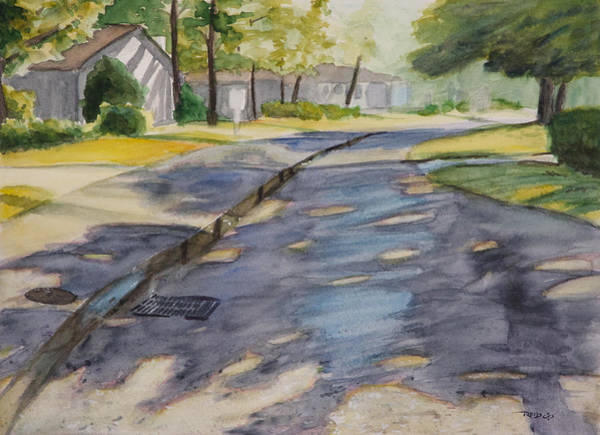 Neighborhood Painting - Cable Car Lane by Christopher Reid