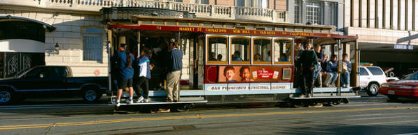 Archaic Photograph - Cable Car, Nob Hill, San Francisco by Panoramic Images