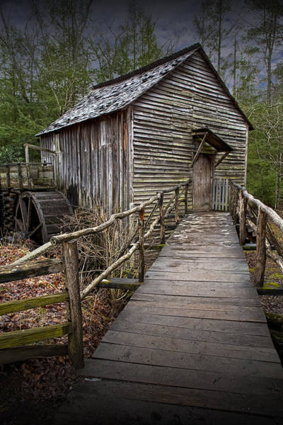 Photograph - Cable Gristmill In Cade's Cove by Randall Nyhof