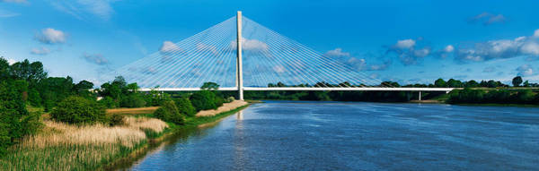 Suir Photograph - Cable Stayed Bridge Across A River by Panoramic Images