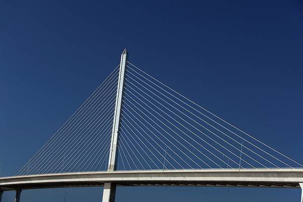 Cable-stayed Bridge Photograph - Cable-stayed Bridge by Jim West