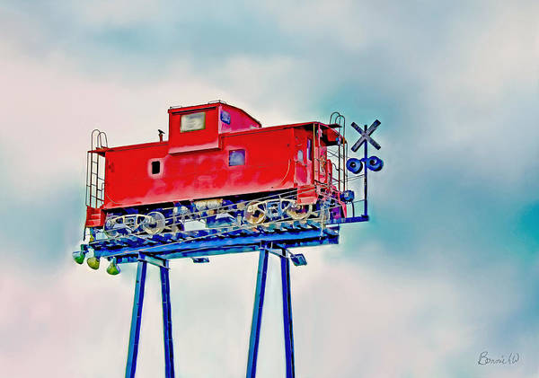 Photograph - Caboose In The Sky by Bonnie Willis