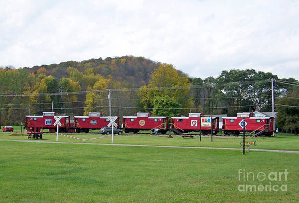 Photograph - Cabooses In Upstate New York by Tom Doud