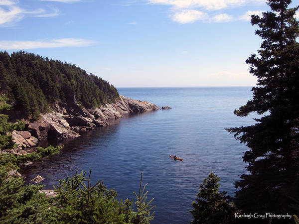 Cabot Trail Photograph - Cabot Trail Kayak by Kaeleigh Gray