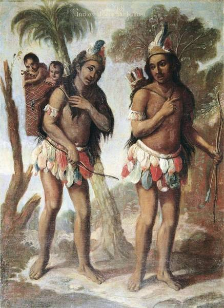 Indio Photograph - Cabrera, Miguel 1695-1768. Barbarian by Everett