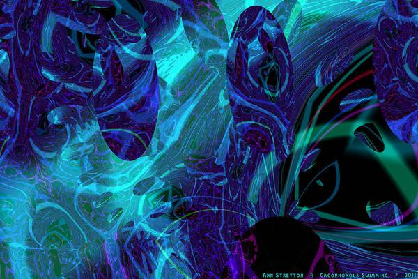 Digital Art - Cacaphonous Swimming  by Ann Stretton