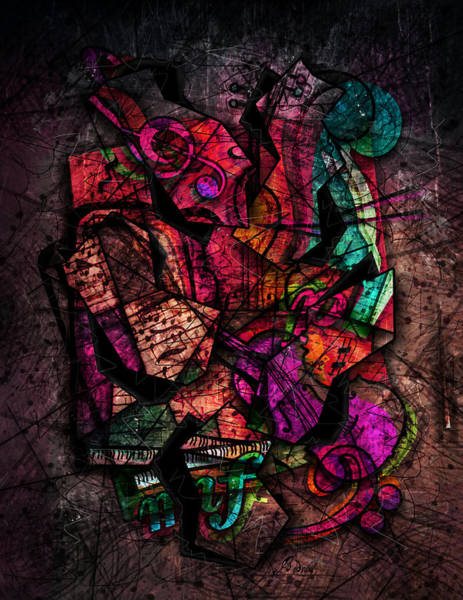 Cello Wall Art - Digital Art - Cacophony In Z Minor by Gary Bodnar