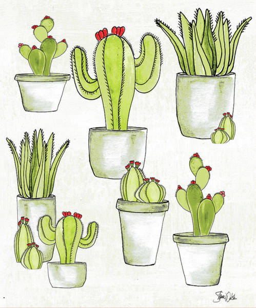Wall Art - Painting - Cactus II by Shanni Welsh
