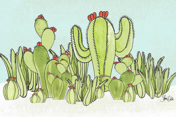 Succulent Wall Art - Painting - Cactus IIi by Shanni Welsh
