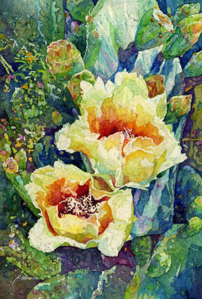 Blooming Painting - Cactus Splendor I by Hailey E Herrera
