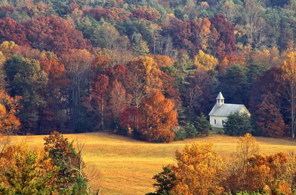 Photograph - Cades Cove Methodist Church by Jim Dollar