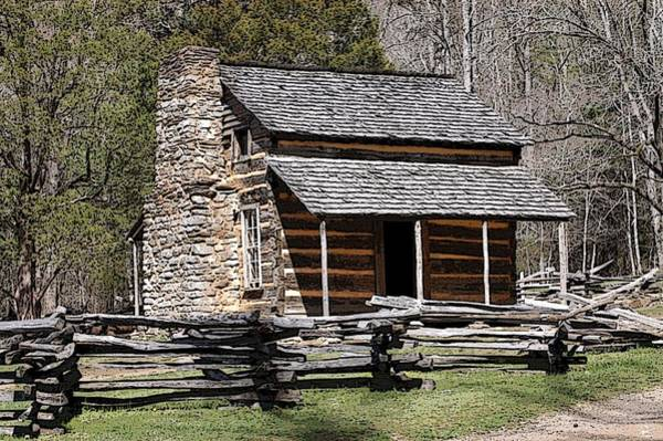 Cades Cove Old Cabin Art01 Art Print