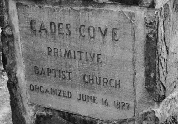 Photograph - Cades Cove Primitive Baptist Church by Dan Sproul