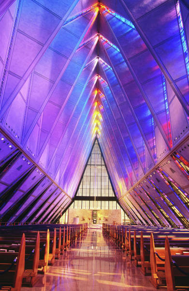 State Of Colorado Photograph - Cadet Chapel Interior, Us Air Force by John Elk