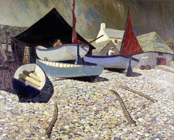 Fishing Boat Painting - Cadgwith The Lizard by Eric Hains