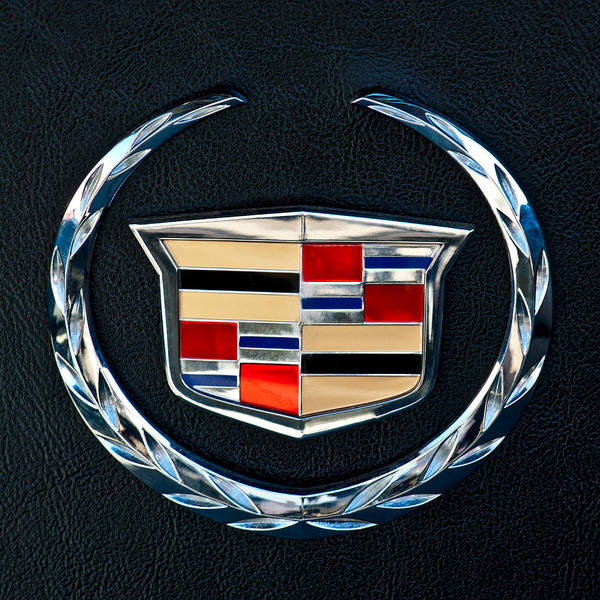 Car Part Photograph - Cadillac Emblem by Jill Reger
