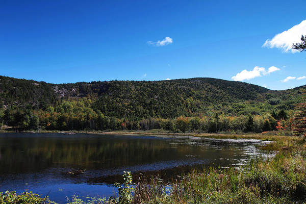 Wall Art - Photograph - Cadillac Mountain And Lake In Acadia National Park by Paul Ge