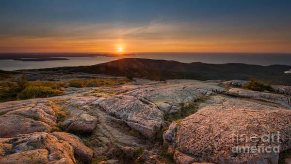 Wall Art - Photograph - Cadillac Mountain Sunrise 16x9 Crop by Michael Ver Sprill