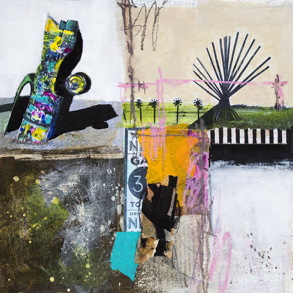 Wall Art - Mixed Media - Cadillac Ranch by Elena Nosyreva