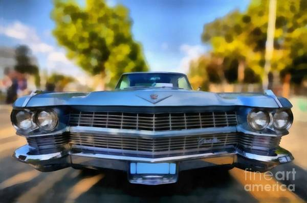 Car Show Painting - 1964 Cadillac Series 62 Deville by George Atsametakis