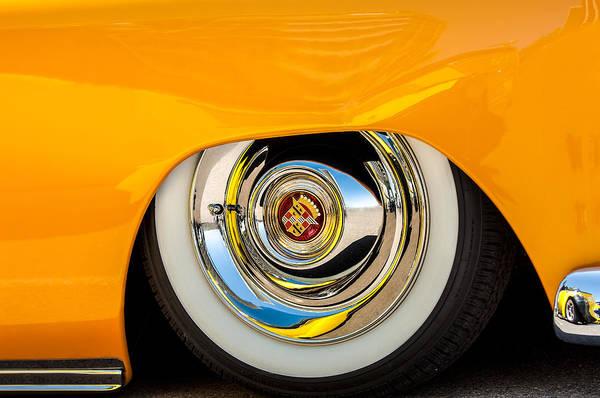 Photograph - Cadillac Wheel Emblem -0853c by Jill Reger