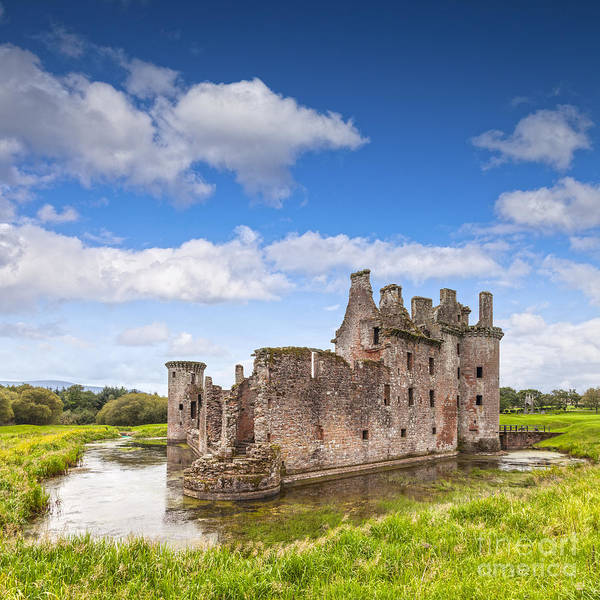 Galloway Wall Art - Photograph - Caerlaverock Castle Dumfries And Galloway Scotland by Colin and Linda McKie