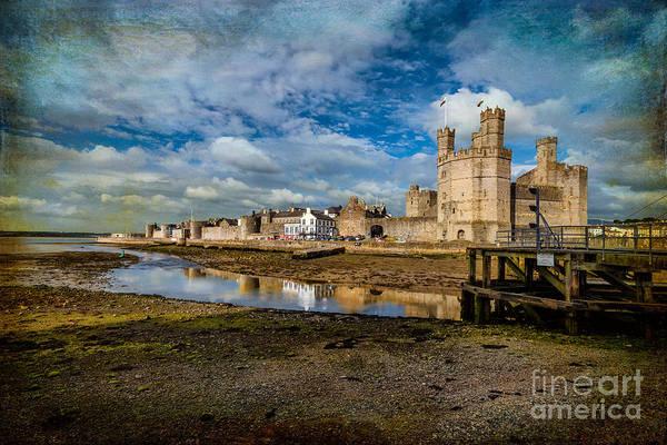 Coastline Digital Art - Caernarfon Castle by Adrian Evans