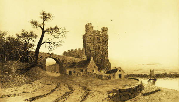 Eire Digital Art - Caernarvon Castle by Bill Cannon