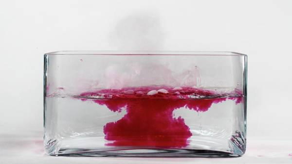 Periodic Table Photograph - Caesium Reacting With Water (4 Of 5) by Science Photo Library
