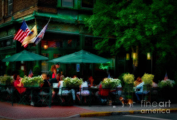 Alfresco Wall Art - Photograph - Cafe Alfresco by Susan Candelario
