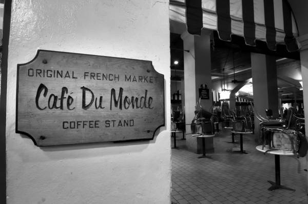 Photograph - Cafe Du Monde In The Morning by Andy Crawford