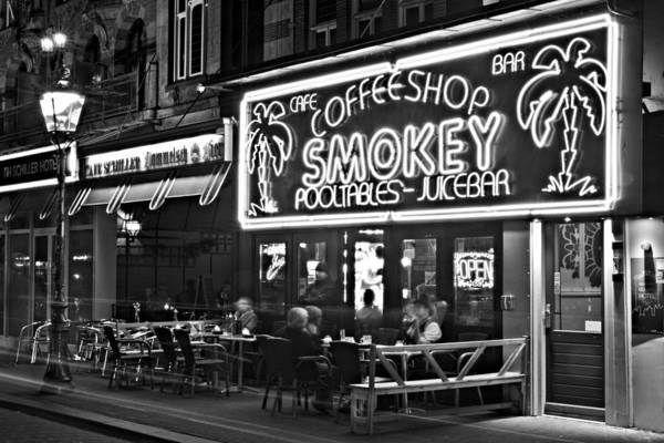Photograph - Cafe In Amsterdam / Netherlands by Barry O Carroll
