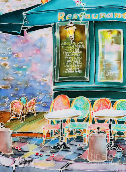 Painting - Cafe In Montmartre by Hisayo Ohta