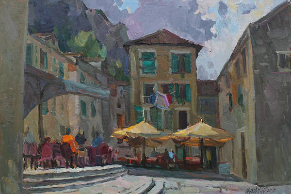 Wall Art - Painting - Cafe In Old City by Juliya Zhukova