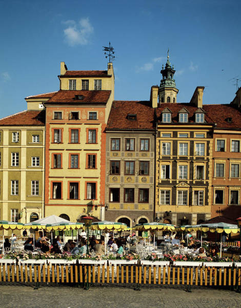 Old Photograph - Cafe In The Old Town Of Warsaw, Poland by Adina Tovy