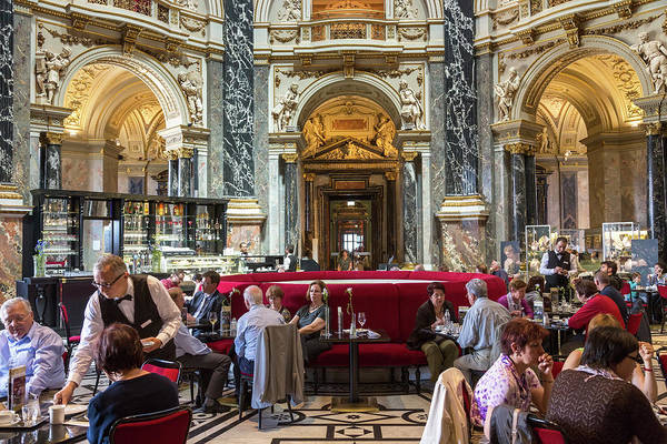Waiter Photograph - Cafe, Kunsthistorisches Historic Art by Peter Adams