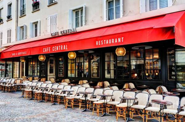 Photograph - Cafe On Rue Cler by Mel Steinhauer