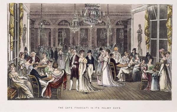 Parisian Cafe Painting - Cafe, Paris, 1815 by Granger
