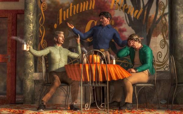 Digital Art - Cafe Philosophy by Daniel Eskridge