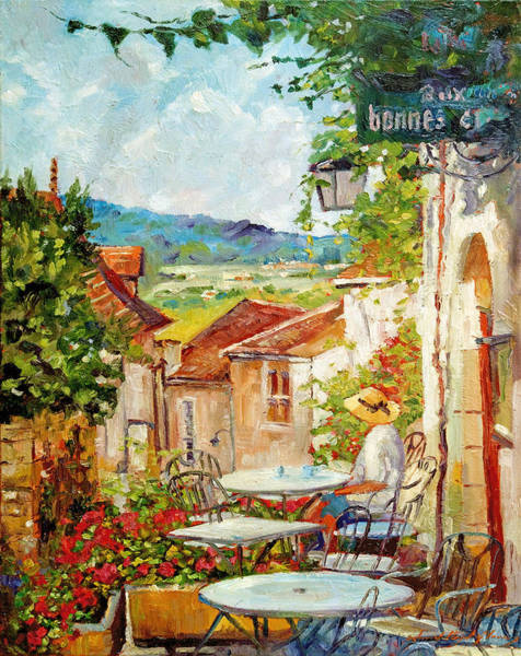 Bistros Painting - Cafe Provence Morning by David Lloyd Glover