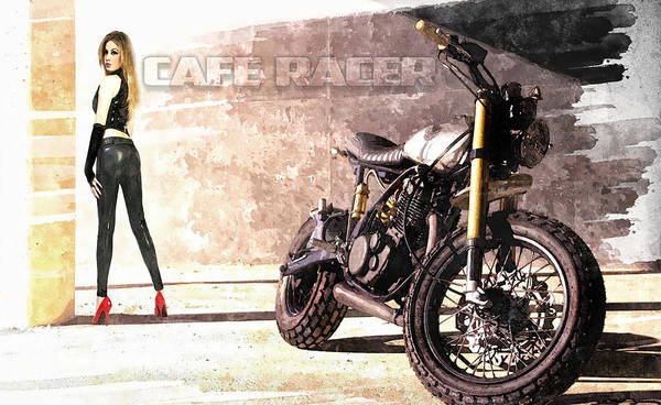 Racer Digital Art - Cafe Racer by Peter Chilelli