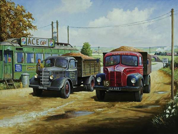 Transport Painting - Cafe Society. by Mike Jeffries