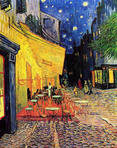 Master Piece Painting - Cafe Terrace At Night by Vincent van Gogh