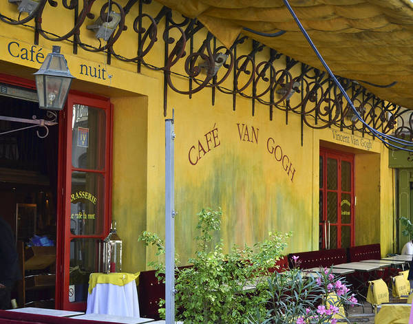 Photograph - Cafe Van Gogh by Allen Sheffield